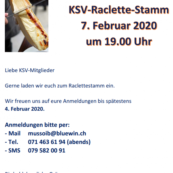 Raclette-Stamm 2020